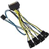 アイネックス ファンPWM信号 4分岐ケーブル [ 10cm ] CA-864SAPS