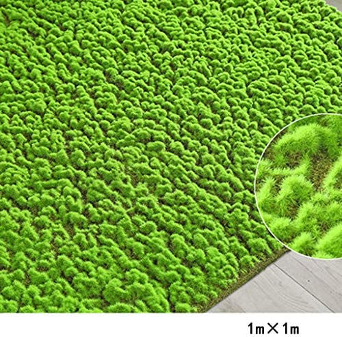 人工苔、人工芝マットガーデンマイクロランドスケープデコレーション1m×3m = 3 pices 1m×1mグリーン (Size : 1m×1m)