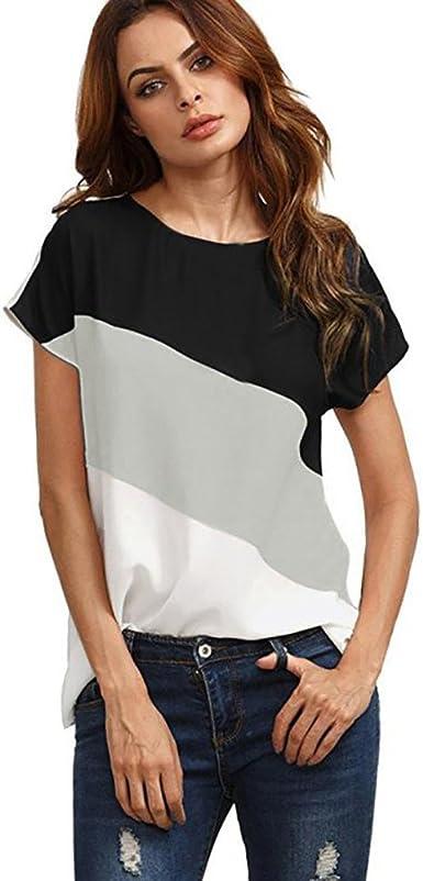 Darringls_camisetas para Mujer, Verano Camiseta Costura Cruz de ...