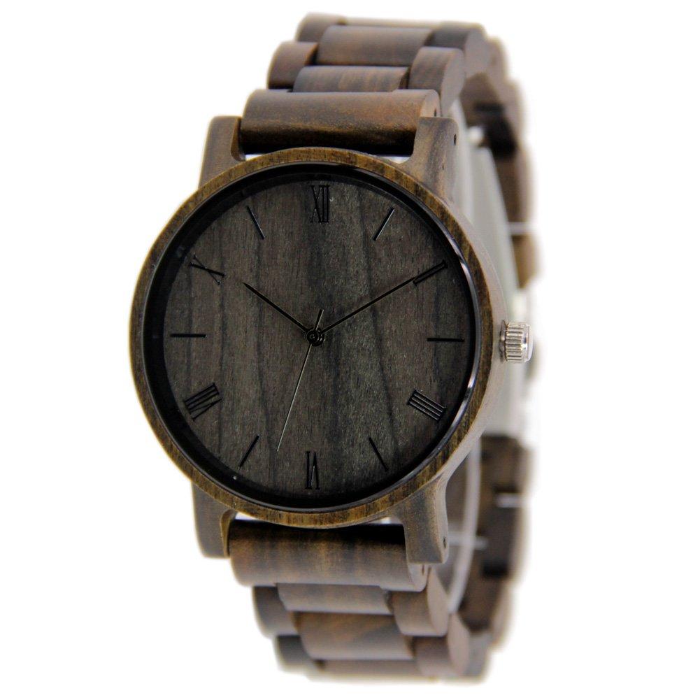 Black Unisex Wooden Watches Casual Wooden Gift Wirst Wathces