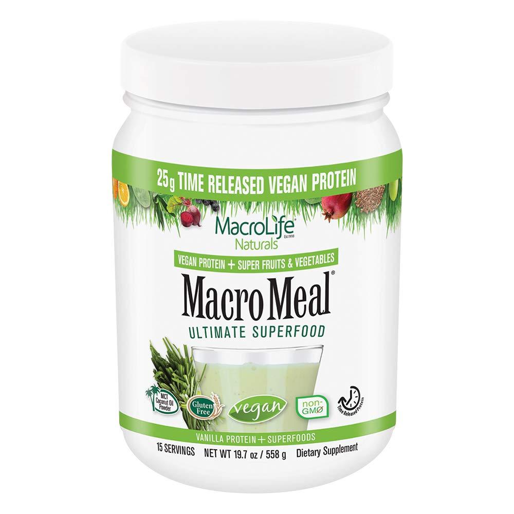 MacroLife Naturals MacroMeal Vegan Protein - 15 Servings - Vanilla