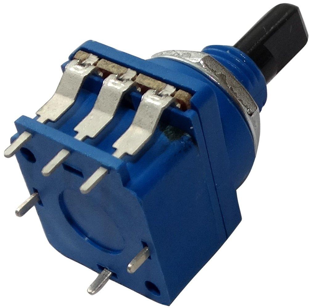 AERZETIX: Potenció metro rotativo con interruptor 10k? eje en D 20.5x17.2x17mm C14861 SK2-C14861-AF340