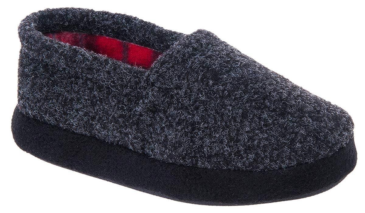 festooning Kids Boys Comfy Warm Indoor House Slippers Fleece Memory Foam Shoes