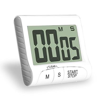 Temporizador de cocina Hovinso Temporizador de cocina digital con gran pantalla LCD y alarma fuerte,