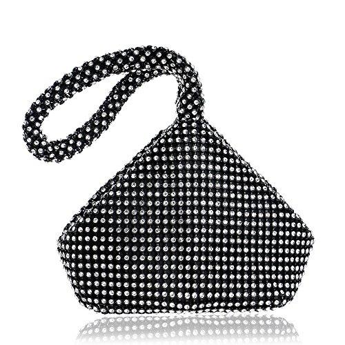 black Sac Doux TuTu Lady Main perlé de à Sacs Embrayage de Style Ouverte Sacs à Soirée Femmes Mariage Sac Couverture Main wwrHdRvqx