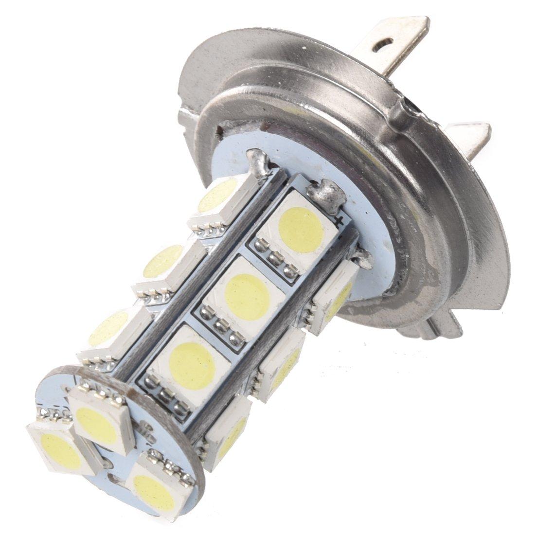 SODIAL (R)2 X Car Vehicle H7 18 SMD LED Xenon White Light Bulbs Lamp SODIAL(R) 012116