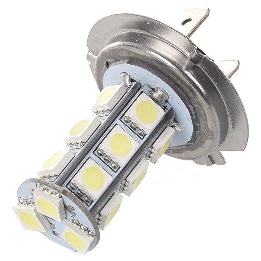 5 opinioni per SODIAL(R) 2 X LAMPADINA XENON BASSO CONSUMO H7 SMD 18 LED BIANCO 12V AUTO