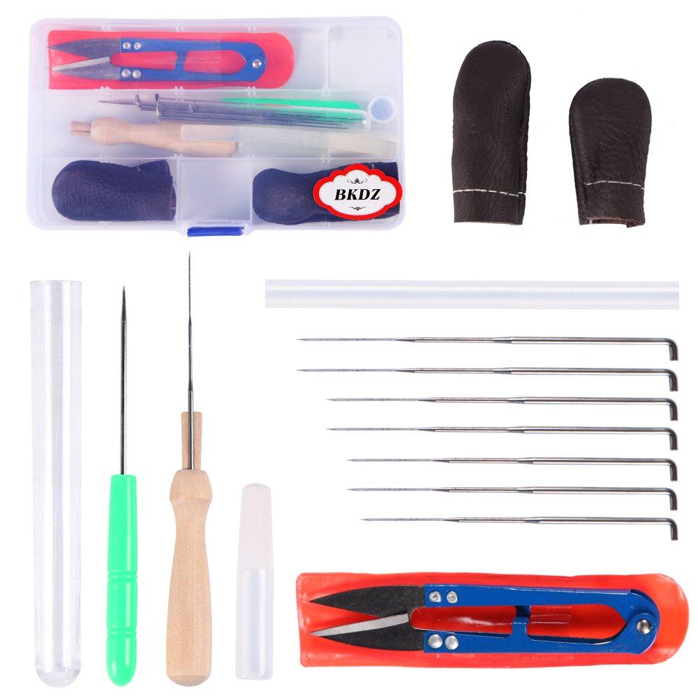 Kit d'outils et aiguilles à feutrer pour débutant, feutre de laine, aiguilles, ciseaux, colle, kit de feutrage de couleur aléatoire dans son étui pratique BKDZ