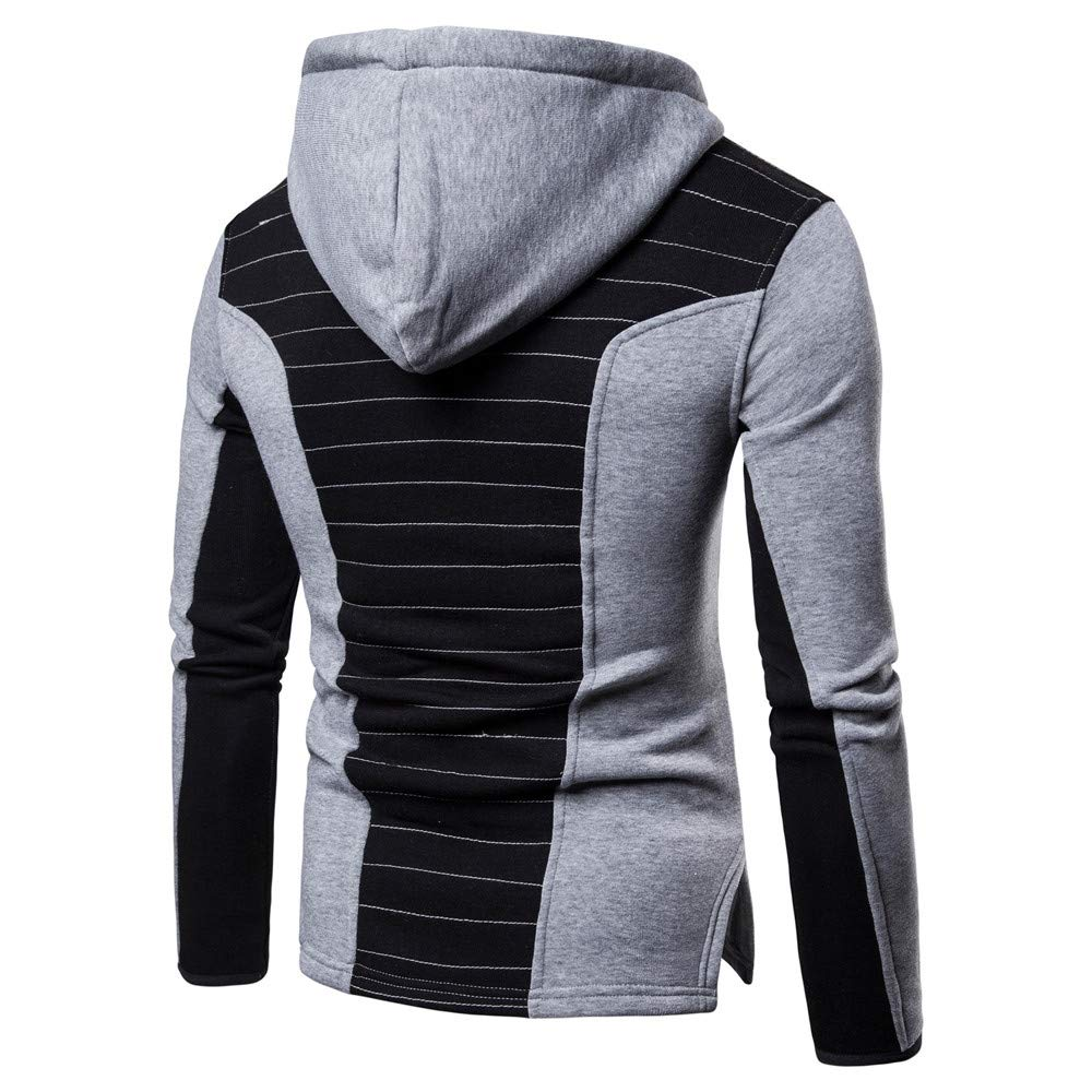 Hombre camiseta tops otoño casual, ❤ Sonnena Mens Splice Fold Pullover sudadera con capucha de manga larga Tops Blusa: Amazon.es: Hogar