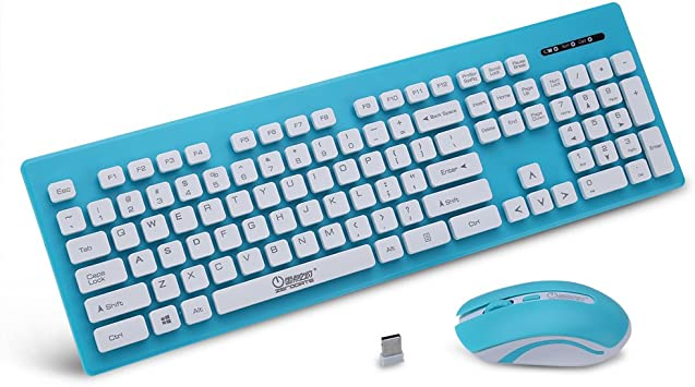 Teclado Inalámbrico X1600 Con Ratón Para PC Ordenador Loptap (Color : Azul)