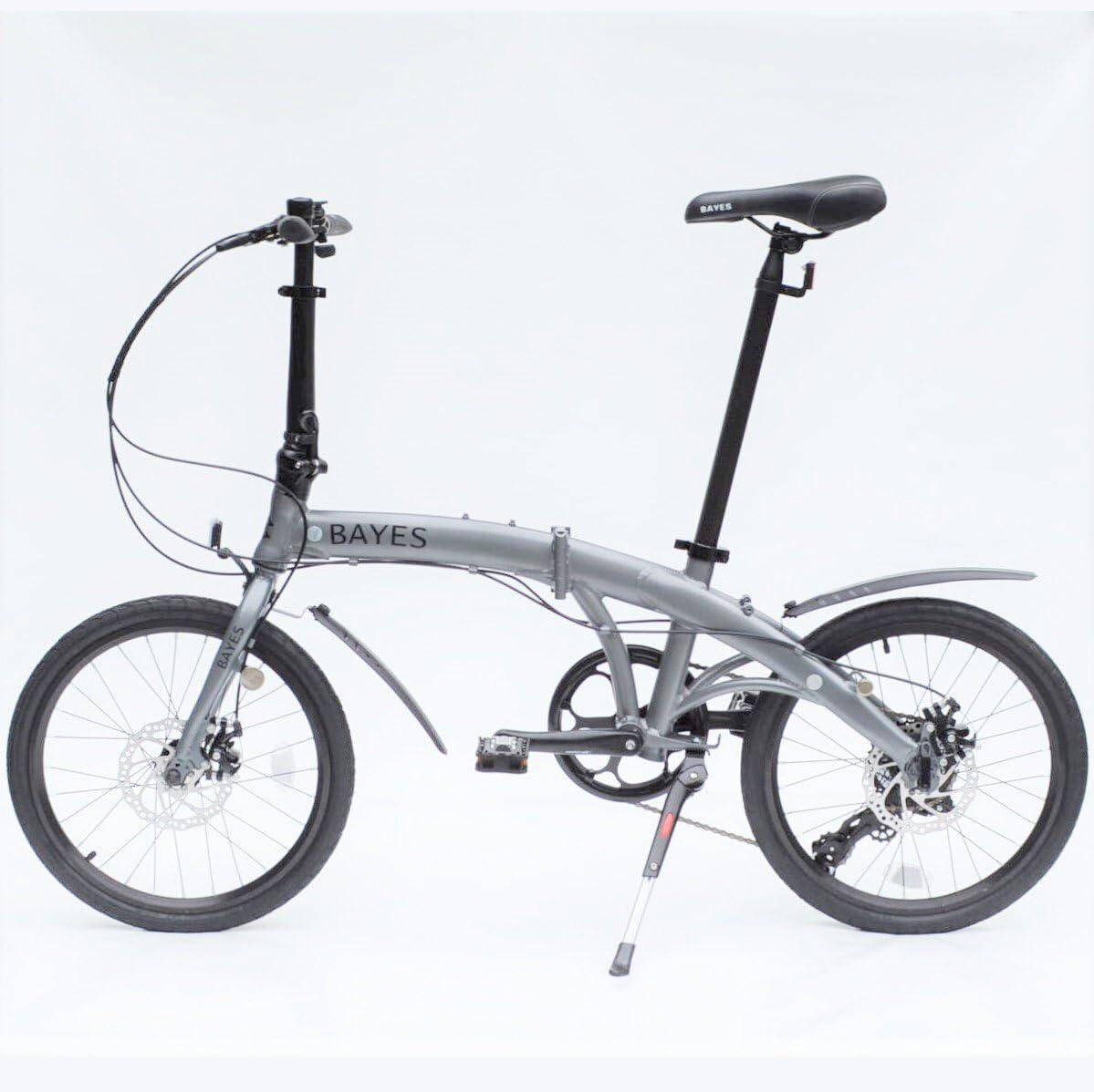 Bayes–Bicicleta plegable de aluminio Shimano, de 20 pulgadas con 8velocidades, con frenos de disco