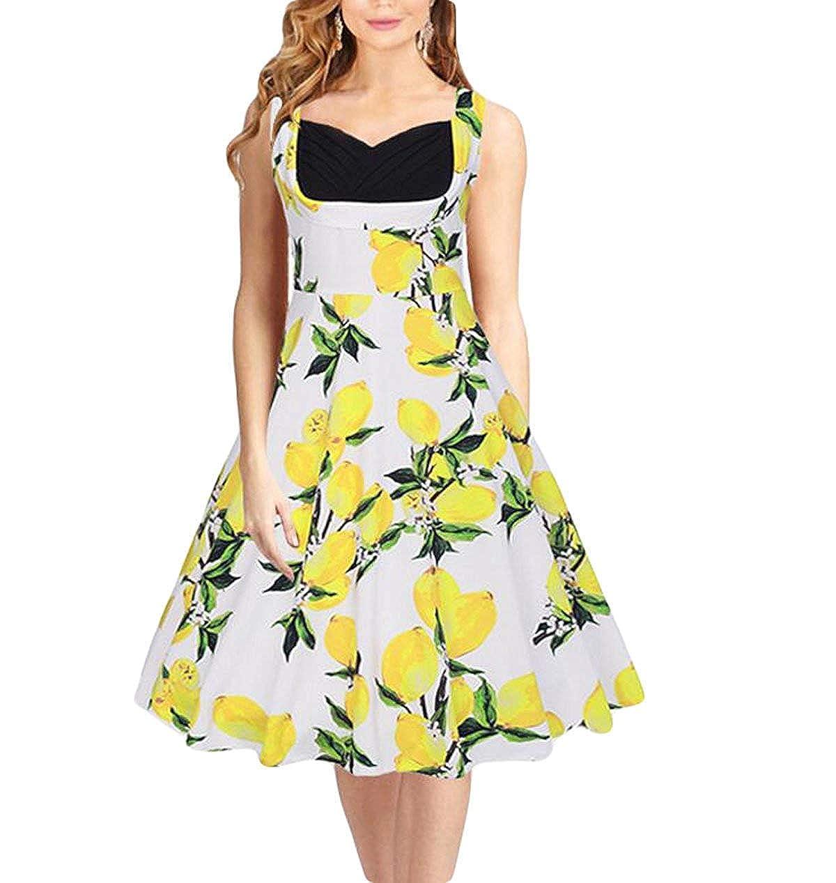 婦人服春ドレス Aスタイルドレス ビーチスカートサマードレスヴィンテージドレス (色 : C837white, サイズ : X-Large)   B07RXRCG8M