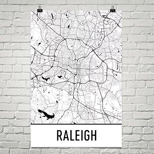 Raleigh Poster, Raleigh Art Print, Raleigh Wall Art, Raleigh Map, Raleigh City Map, Raleigh