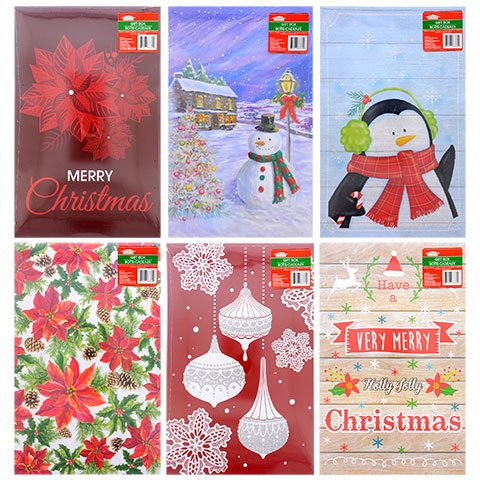Christmas-Print Coat-Size Gift Boxes - 2 CT