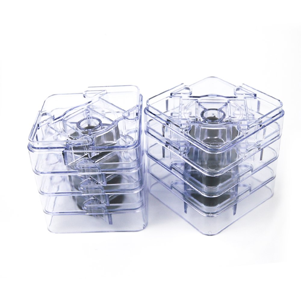 MIIX HOME Adjustable Bed Risers Non-Slip Table Risers or Furniture Risers 8 pack Clear / 1 or 2 inch height improvement / 1500 pounds