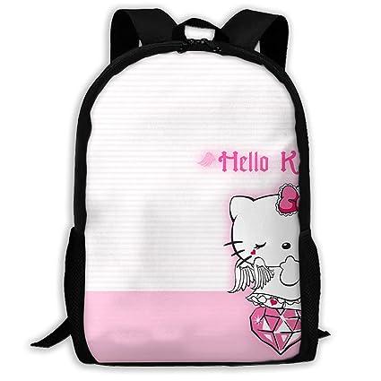 8bd8d164ac88 Amazon.com: LIUYAN Custom Hello Kitty with Diamond Casual Backpack ...