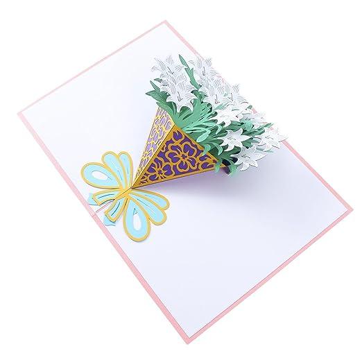 SUPVOX Tarjeta 3D Pop-up Tarjeta de felicitación Tarjetas ...