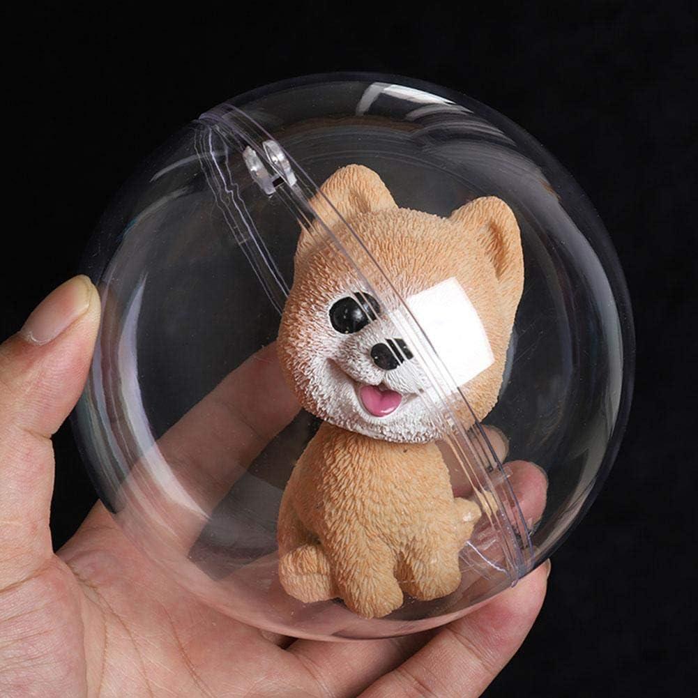 7 boules darbre babiole en plastique transparent ornement clair d/écoration de f/ête de No/ël 5 pi/èces boule de d/écoration 01 10 cm 5 8