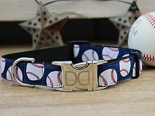 product image for Diva Dogs UBS17 Baseball Dog Collar - Extra Large Sized