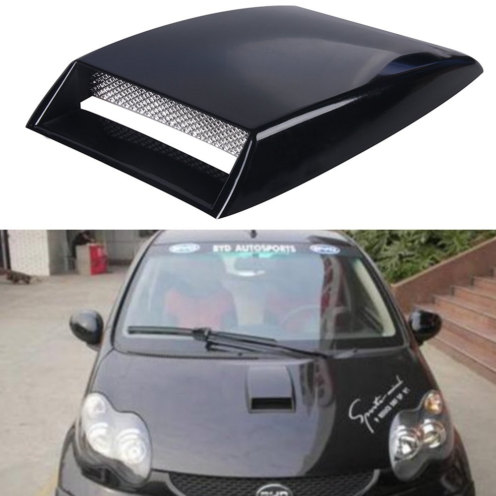 Aumo-mate Universal Car Air Flow Intake Hood Scoop Turbo Bonnet SUV Vent Cover