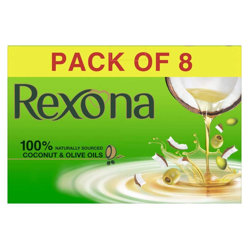 Rexona Coconut & Olive Oil Soap (Pack of 8)