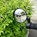 Newlight66 Adjustable 360 Rotatable Handlebar Glass Rearview Mirror for Road Bicycle Mountain Bike (2 Pack)