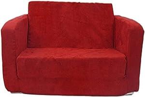 Fun Furnishings Toddler Flip Sofa, Red