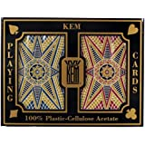 Kem Stargazer Narrow Jumbo Index Playing Cards (Red/Blue, 2.25 x 3.5-Inches)