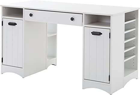South Shore Artwork Craft Table With Storage Pure White Arts Crafts Sewing