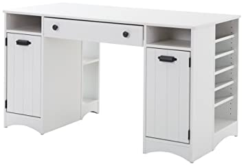 Artwork Craft Table With Storage   Large Work Surface   Multiple Storage  Spaces   Pure White