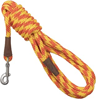 product image for Mendota Pet Long Snap Leash - Dog Training Lead - Made in The USA - Amber, 1/2 in x 15 ft