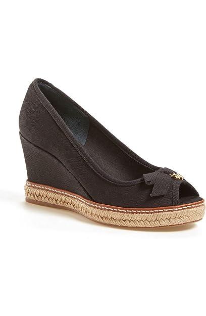 50187987864 Amazon.com | Tory Burch Jackie 2 Peep Toe Wedge Sandals Size 8 ...