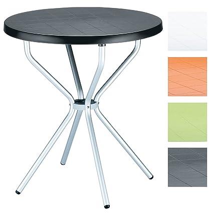 Tavolo Rotondo Per Esterno.Clp Tavolino Da Giardino Elfo In Plastica E Alluminio Tavolo