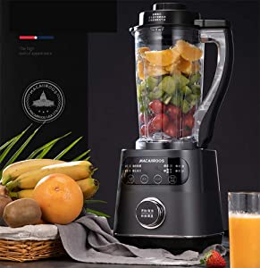 ALK Smoothie Blender, 8 in 1 Food Processor Multi-Function Kitchen Mixer System, 1000W High Speed Blender/Chopper/Grinder with 1750ml BPA-Free Bottle, Easy to Clean,A