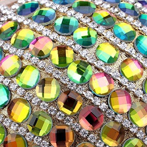 1 Sferiche da Party sera Fashion Evening Borsa Ladies Party Colore Bag Sera Vola Banquet New Round Dress Multicolor Borse Dress 2 Multicolor p4qp1