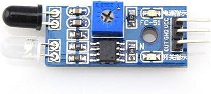 2Pcs Reflective 3pin IR Infrared Obstacle Avoidance Sensor Module for Arduino