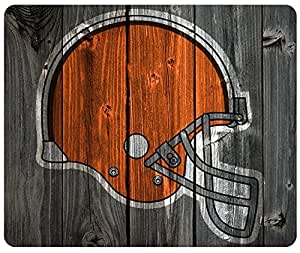 Cleveland Browns Wood Look Mouse Pad, Customized Rectangle Mousepad by iCustomonline