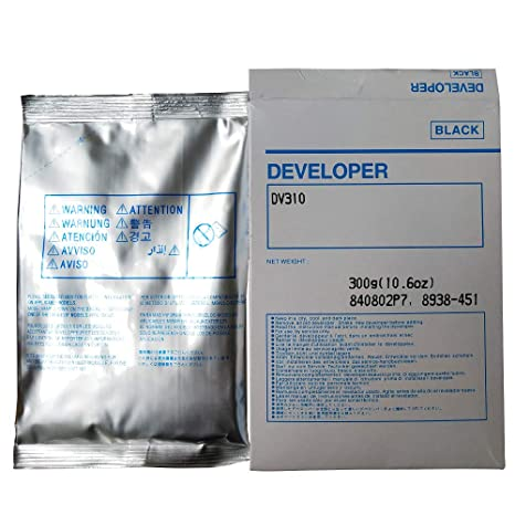 Printer Toner, Black Developer Powder Suitable for Konica Minolta Bizhub DV310 BH 200 250 350