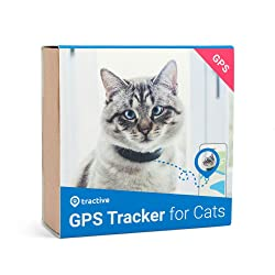 Tractive traceur GPS pour chat - Collier intégré avec mécanisme de rupture (modèle précédent)