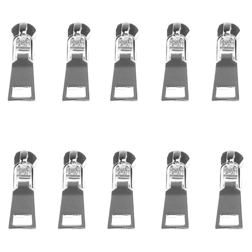 monkeyjack卸売10ピースファスナー修理キットファスナースライダーRescueインスタントソリューションZipper Puller # 5メタルFix裁縫服ズボンバッグ 4.5 x 1.2 cm シルバー 13c93ecd84c1537297c09edf50b704d8  シルバー B0748C9XXL