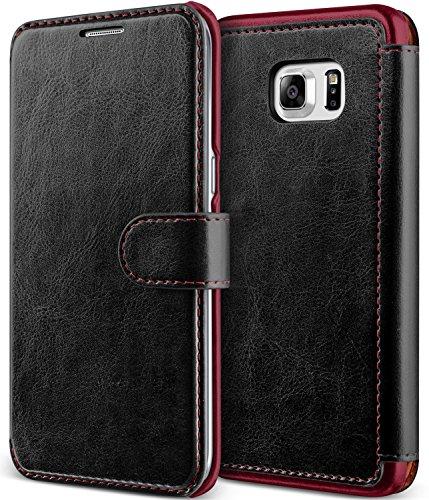 Ultra Flip PU Leather Case for Samsung Galaxy S6 Edge Plus (Black) - 5