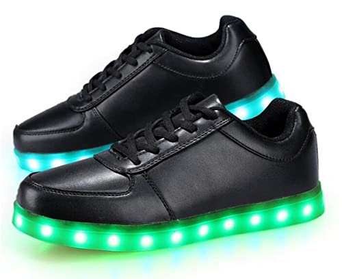 TYLJDLMC Women Black 7 Colors Changing LED Sneaker Lighting Shoe With USB Charging For Party Christmas Gift with CE Certificate Goods Of Every Description Are Available