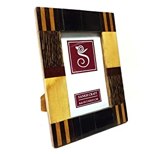 Sankh 4 By 6 Inch Horn Wooden Photo Frames-Horn-DAPF153