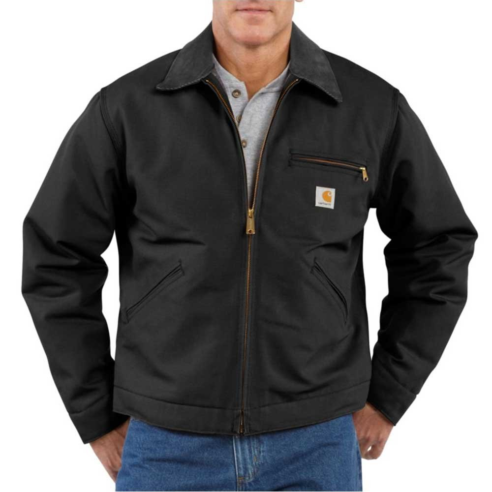 Carhartt Men's Weathered Duck Detroit Jacket J001,Black,XX-Large by Carhartt