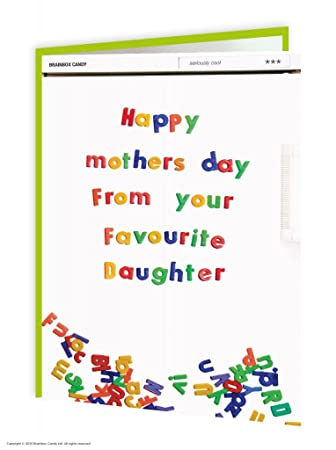 Funny Mother's Day Card | Cheeky Humorous Joke | 'Favourite Daughter' By  Brainbox Candy