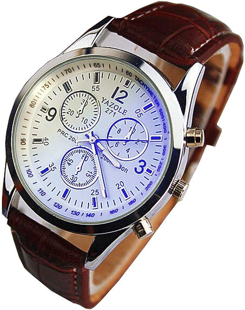 Reloj de Pulsera de Cuarzo de Cuero PU de Estilo clásico para Mujer Reloj de Pulsera de número Romano de Moda de TheBigThumb