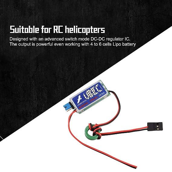 5A El Ruido m/ás bajo en RF BEC Full Shielding Antijamming Regulador de conmutaci/ón Funnyrunstore 5V 6V HOBBYWING RC UBEC 3A M/áx Rojo y Negro y Verde