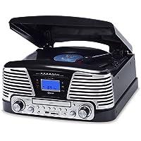 Vitrola Black com CD, Fm, Sd, Usb e Bluetooth, Bivolt, Raveo, Harmony Bt, 10 W