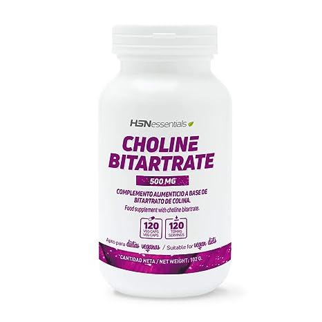 Colina Bitartrato de HSN Essentials | Nootrópico Natural para Mejorar la Función Cognitiva, Estudiar,