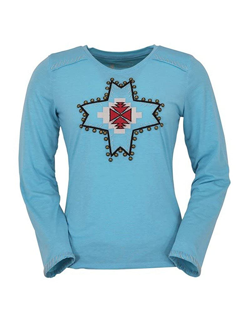 Outback Trading Co Legend Womens Tee Turquoise Cotton Blend